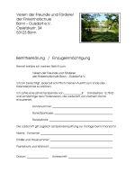 Beitrittsformular Förderverein Finkenhofschule Bonn